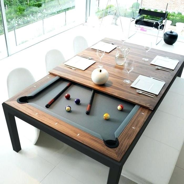 Convertible Dining Pool Table In 2020 Dining Room Pool Table Pool Table Dining Table Game Room Furniture