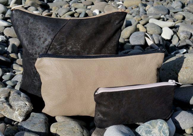 Recycled Leather Zip Purse DIY Tutorialthreadbarecloak