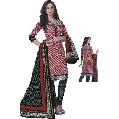 Buy Pari Red Cotton Dress Material by Agate Business Services Private Limited, on Paytm, Price: Rs.699?utm_medium=pintrest