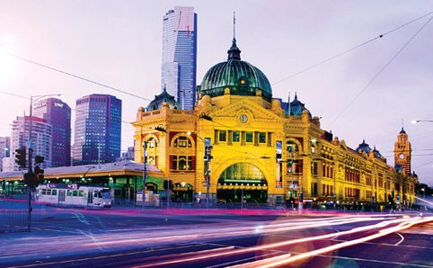 Flinders street station the heart of Melbourne