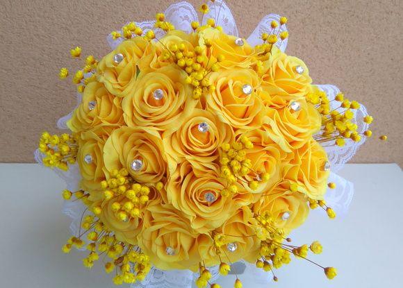 Buquê de Noiva Amarelo (FRETE GRÁTIS)