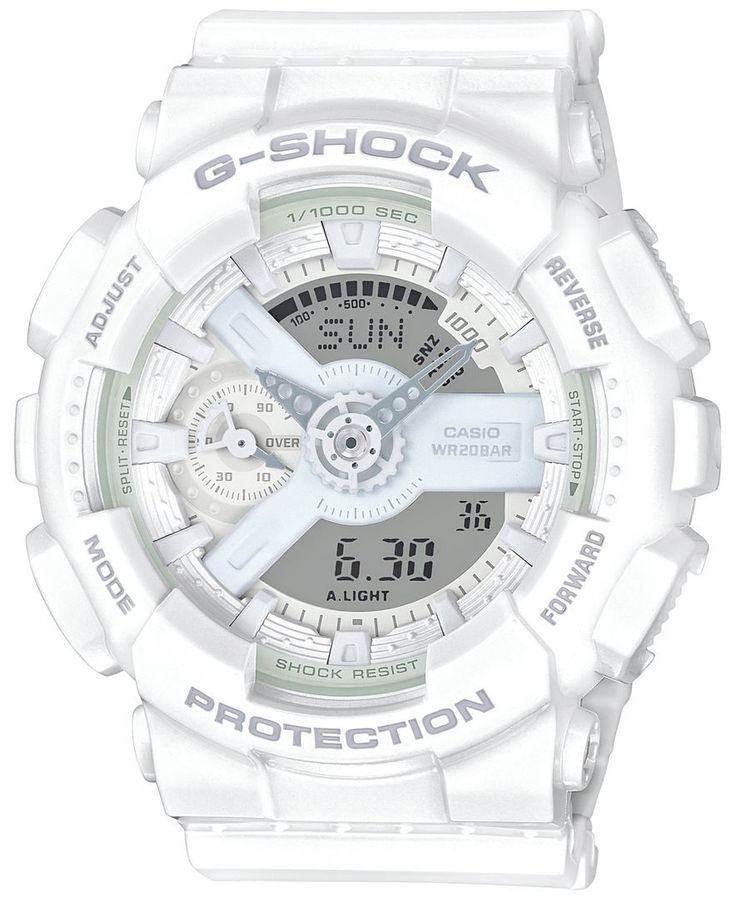 G-Shock Women's Analog-Digital Whiteout White Bracelet Watch 49x46mm GMAS110CM7A1