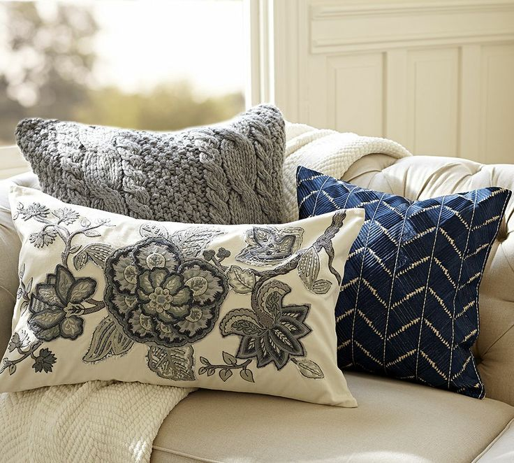 Marvelous Allegra Palampore Embroidered Lumbar Cushion Cover | Pottery Barn Australia