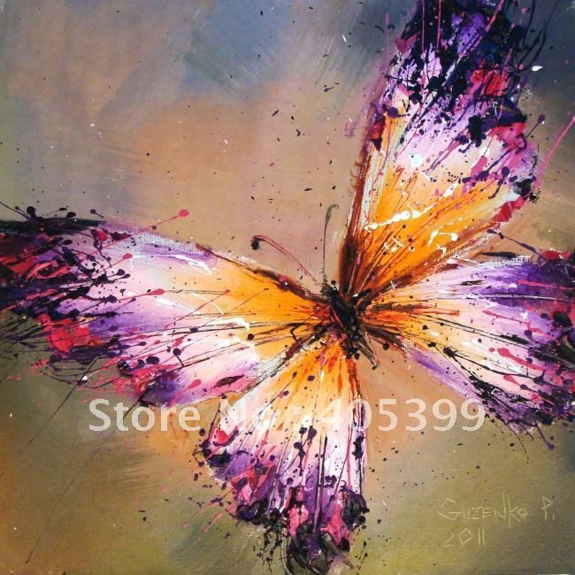 butterfly painted on canvas - Google Search