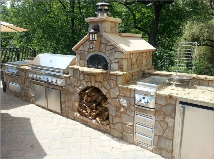Beautiful custom Chicago brick oven. Pizza Oven Kit.