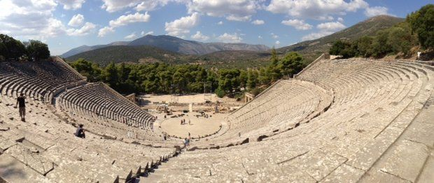 Ancient theater of #Epidaurus, #Argolida, #Peloponnese - #Greece