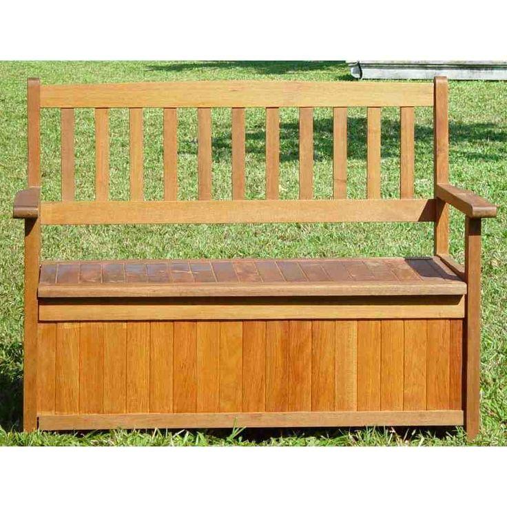 outdoor wooden storage bench for patio garden backyard woode
