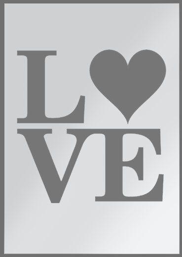 AMOR plantilla corazón plantilla de word arte decoración