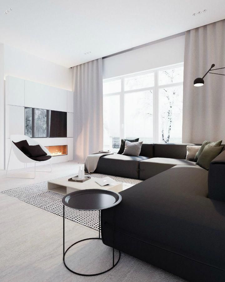 Minimalist Black And White Interior 4