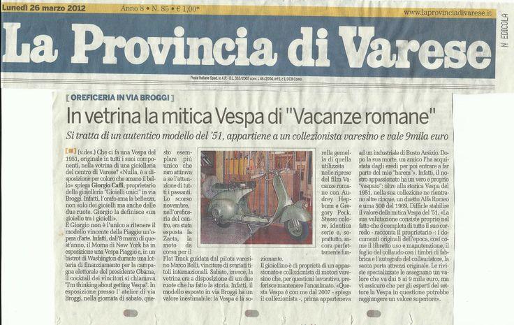 La Provincia di Varese - Vespa di Vacanze Romane - Anno 2012