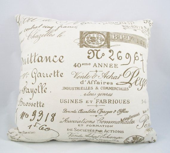 Decorative Writing Contemporary Cushion Cover. Fits a