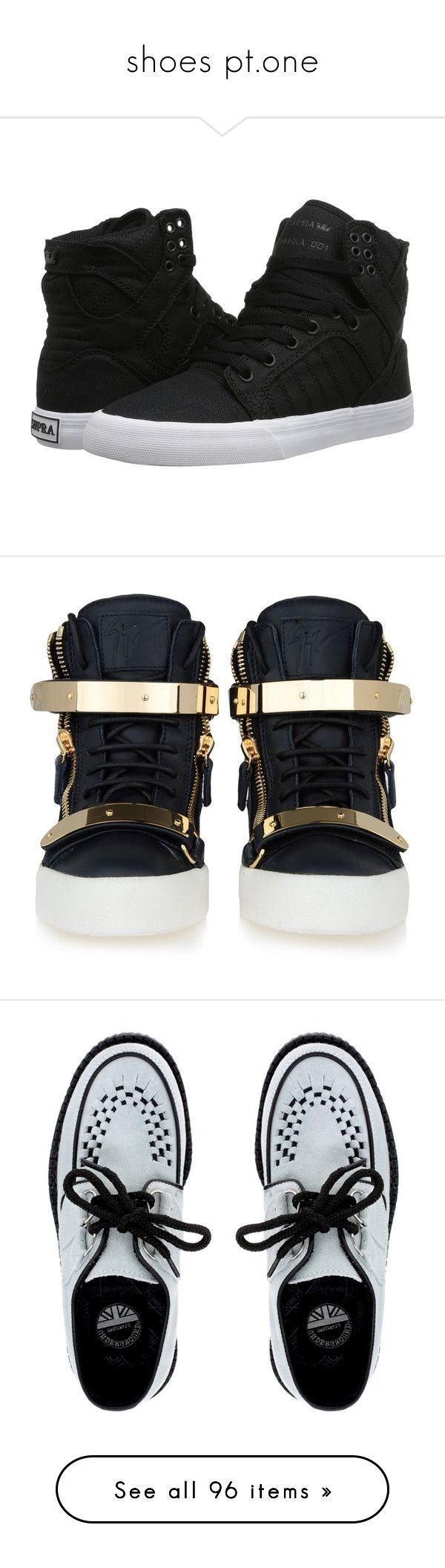 """""""shoes pt.one"""" by keikoochan ❤ liked on Polyvore featuring shoes, sneakers, toe cap shoes, genuine leather shoes, ankle support shoes, supra footwear, real leather shoes, giuseppe zanotti sneakers, giuseppe zanotti shoes and giuseppe zanotti trainers"""