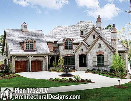 132 best dream homes french country images on pinterest for Modern french country house plans