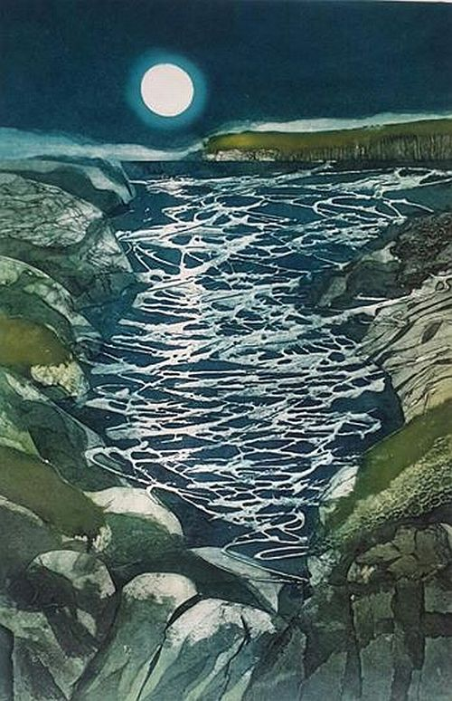 SARAH ROSS THOMPSON Moonlight Sonata Unframed collograph edition of 30 40cm x 60cm
