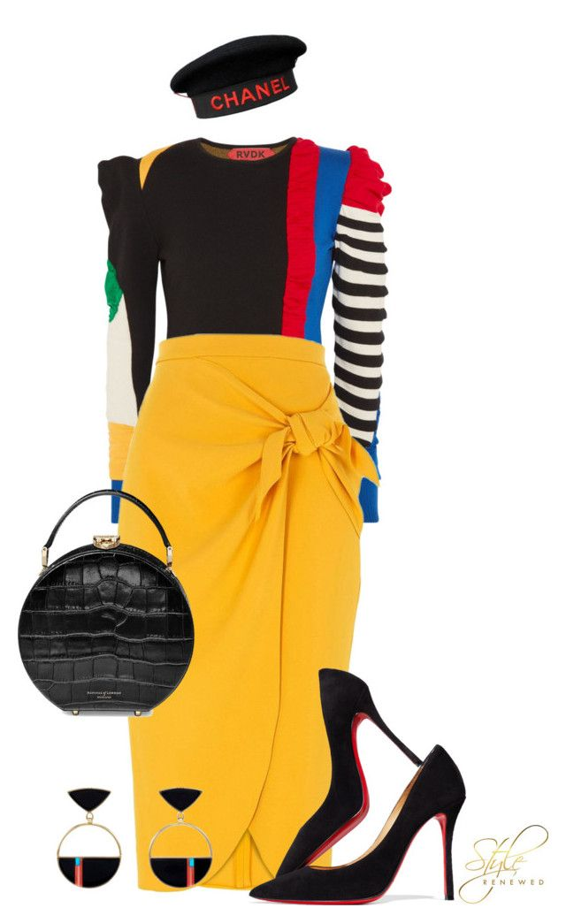 """Untitled #524"" by sherristylz on Polyvore featuring RVDK, River Island, Christian Louboutin, Aspinal of London and Chanel"