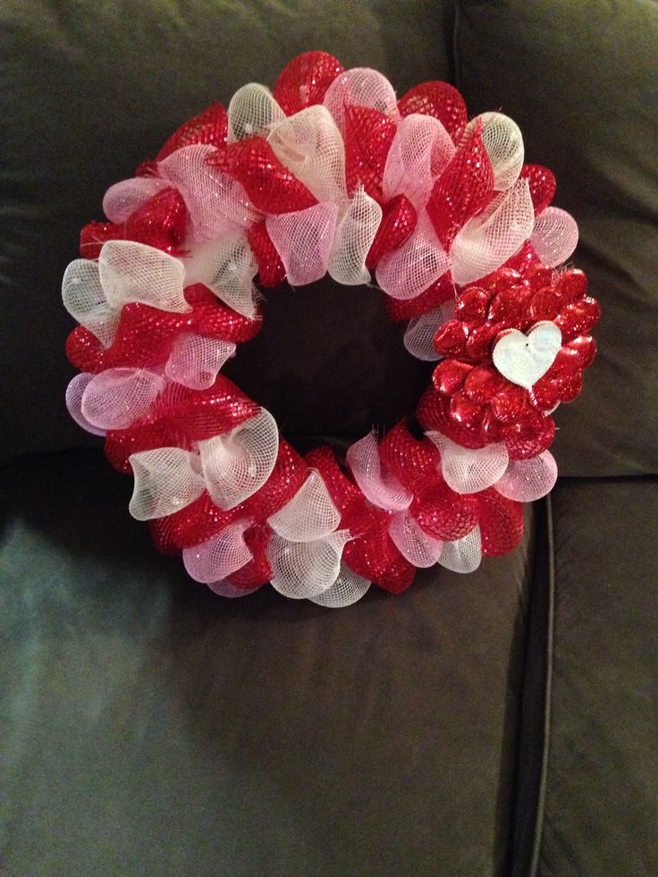 valentine's day wreath tutorial