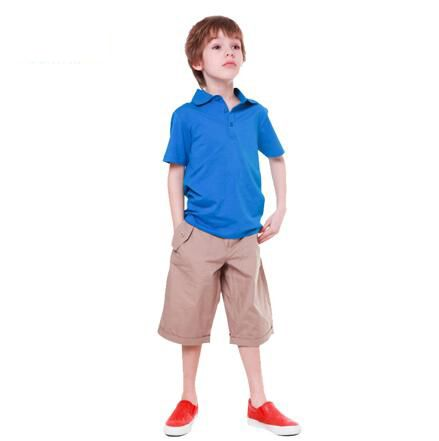 65%cotton 35%polyester polo t-shirts for children
