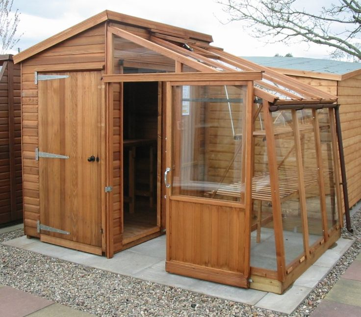 Garden Shed With Attached Greenhouse