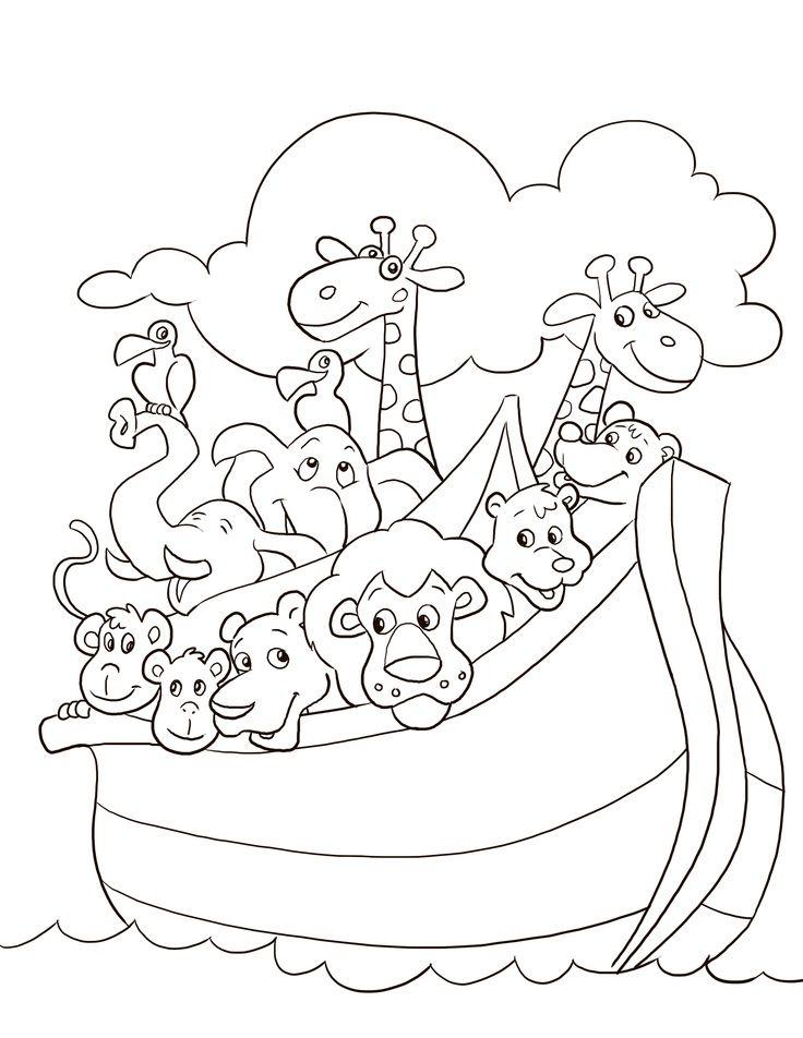 free noahs ark coloring pages noahs ark coloring page - Noahs Ark Coloring Page 2