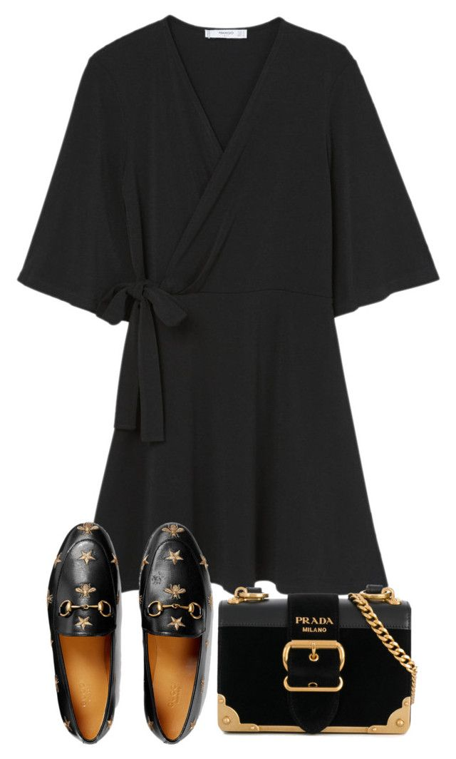 """Untitled #5227"" by theeuropeancloset on Polyvore featuring MANGO, Gucci and Prada"