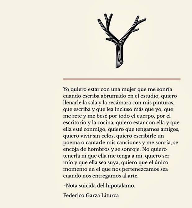 Nota Suicida del Hipotalamo -Federico Garza Liturca