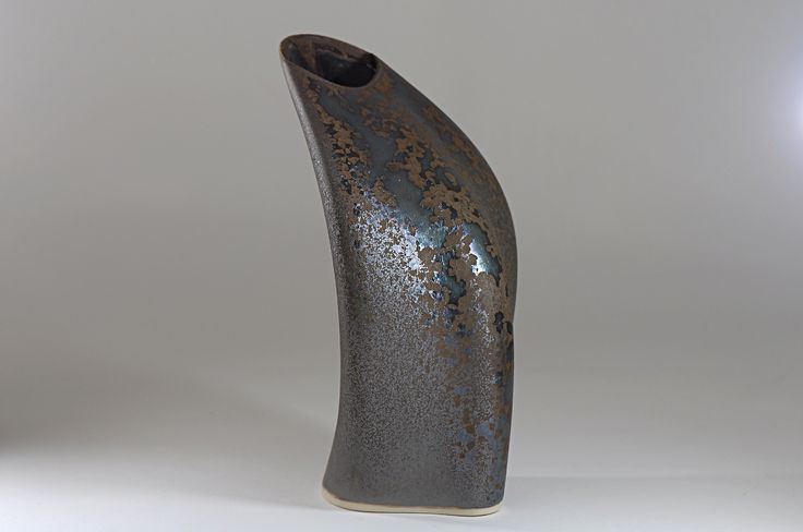 Peter Biddulph - Sake Flask Arc - Southern Ice Porcelain - Iridescent Crystalline Glaze