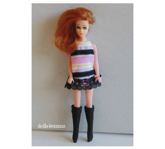 GO-GO STRIPES Mod Dress Boots and Jewelry for Dawn and Pippa dolls - by dolls4emma