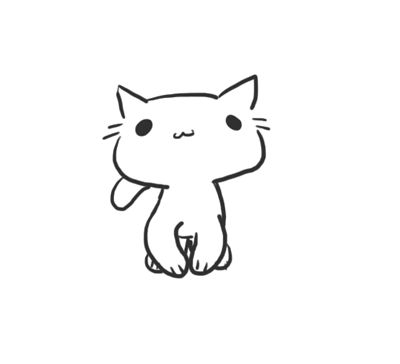drawing of a kitty