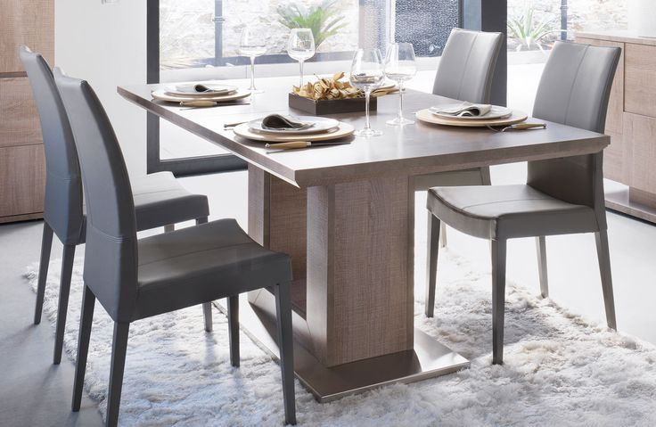 Table rectangulaire pied arche collection setis for Salle a manger gautier
