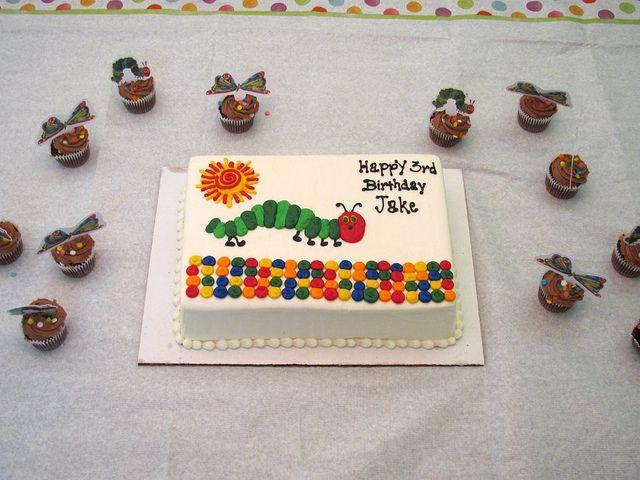 The Very Hungry Caterpillar Birthday Cake by shamsandcoverups, via Flickr