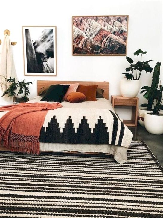 50 Incredible Apartment Bedroom Decor Ideas With Boho Style (28) #BedroomIdeas & 50 Incredible Apartment Bedroom Decor Ideas With Boho Style (28 ...