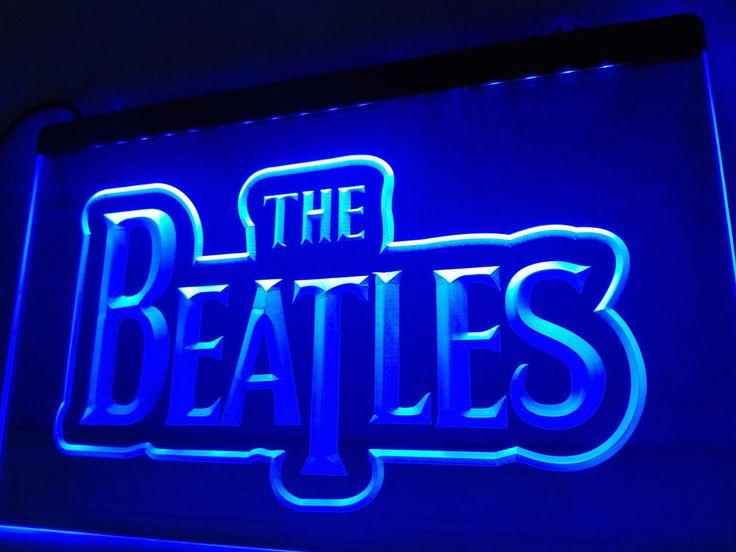 LF012- The Beatles Band Music Logo Bar LED Neon Light Sign home decor crafts