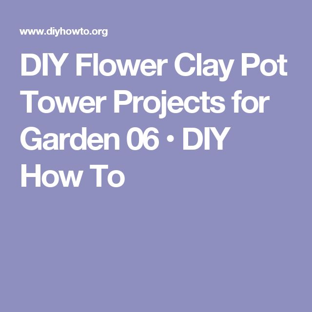 DIY Flower Clay Pot Tower Projects for Garden 06 • DIY How To