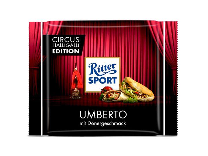 """RITTER SPORT Fake Sorte Umberto als Antwort auf die Fake Sorte """"Luft"""" der Fernsehsendung Circus HalliGalli"""