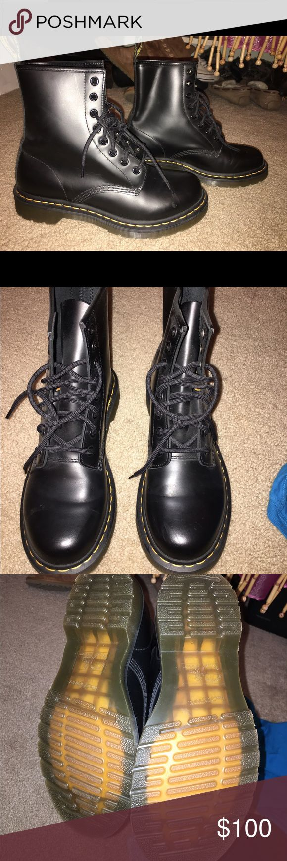 Dr. marten 1460 8-eye boot Brand new wore once on the bike. They have been kept in plastic box so they didn't get scuffled in storage. Dr. Martens Shoes Combat & Moto Boots