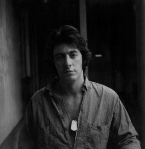 Al Pacino photographed by Jerry Schatzberg, 1970′s.