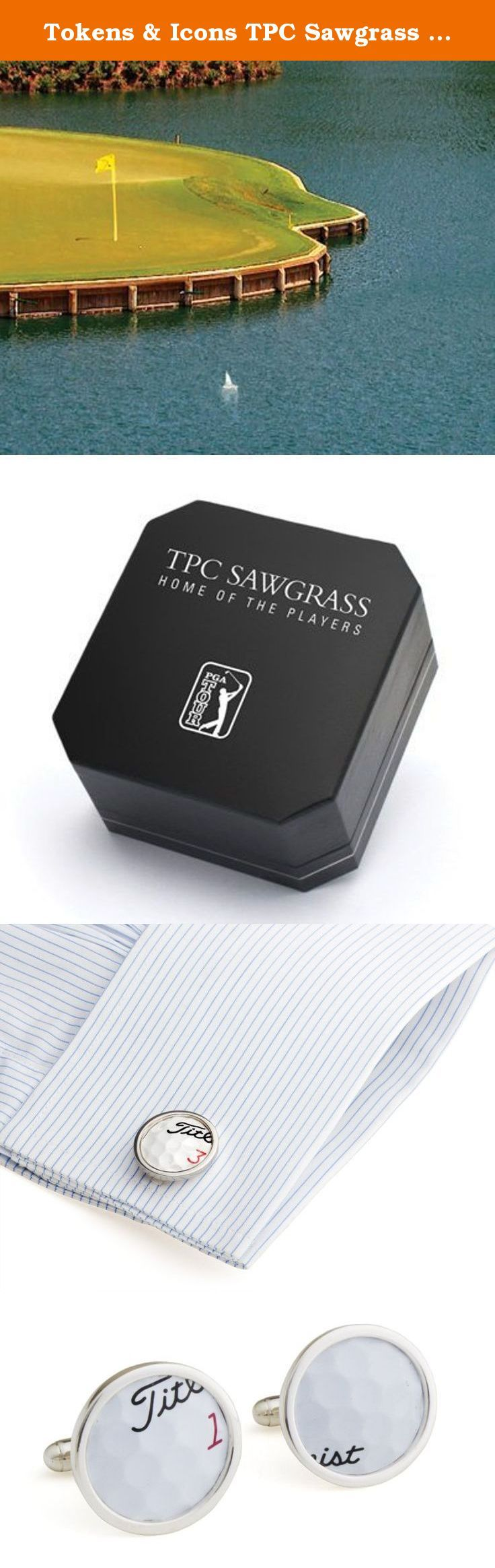 Tokens & Icons TPC Sawgrass Golf Ball Cuff Links. A unique opportunity to celebrate the home of the players. These sterling silver cufflinks are crafted from genuine TPC Sawgrass played golf balls pulled from the water surrounding the famed 17th Island Green. Hit by pro and duffer alike, the retrieval was witnessed by the Head Golf Professional or PGA Tour Staff. Set in sterling silver, each Cufflinks carries a PGA Tour hologram with a unique identification number. Use this number to…
