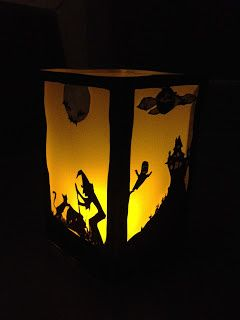 Paton gratuit kirigami lanterne halloween