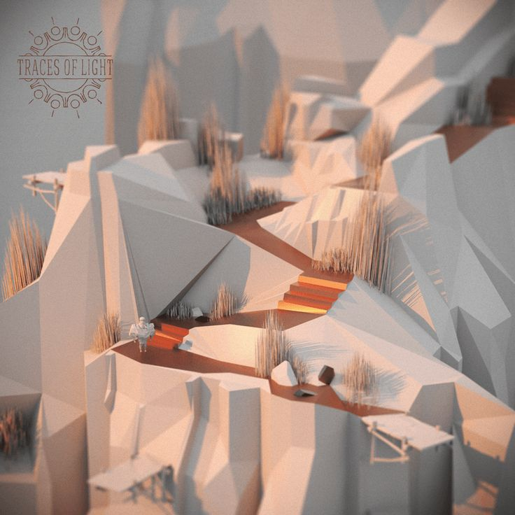 Feast your eyes on the lovely low-poly art of Traces of Light   Kill Screen