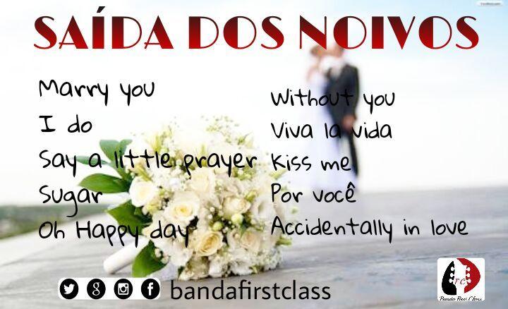 Música para casamento, Saída dos noivos, Música para cerimônia de casamento, Banda para casamento