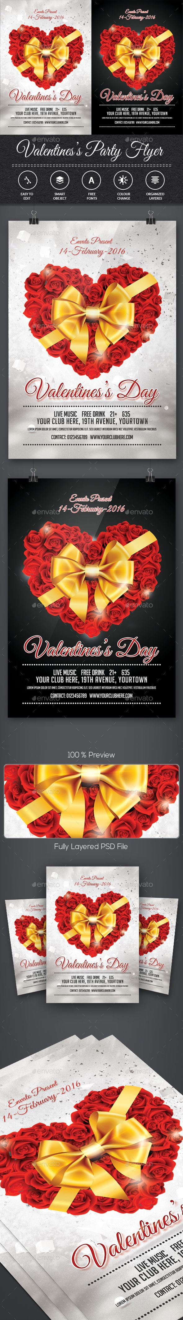 1fc5d589b28a293a5942e373ed603429 love days valentine party - Valentines Day Flyer #retro #wedding • Download here → graphicriver.net/...