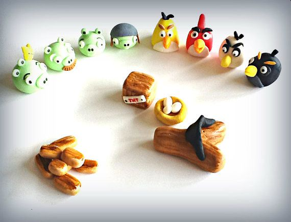 Angry Birds cake topper - edible decoration