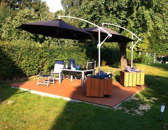 mobiler Sonnenschirmständer Terrasse,Douglasie,Sonnenschirm,Ikea,Schirmständer,Ikea-Hack