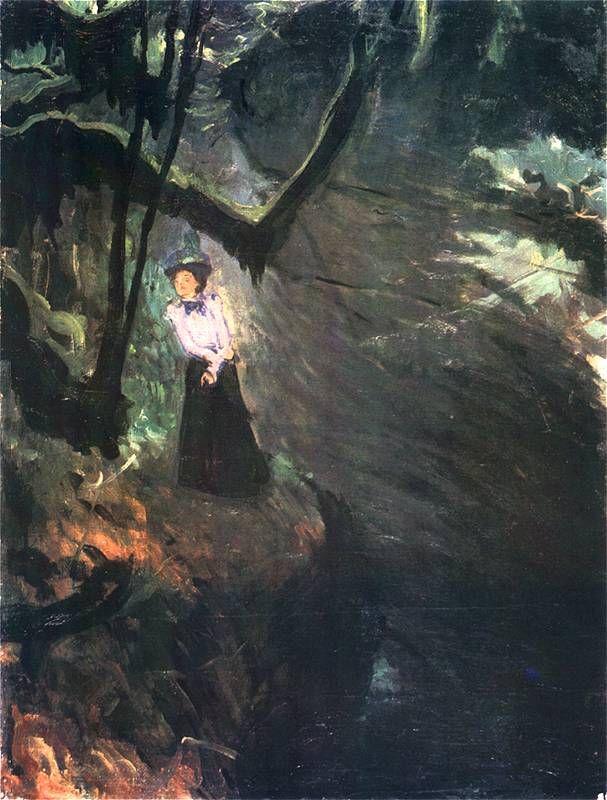 """http://www.forvo.com/user/gorniak/  Józef Mehoffer (1869 - 1946)   """"Wąwóz - La Gorge d'Areuse""""  1897."""
