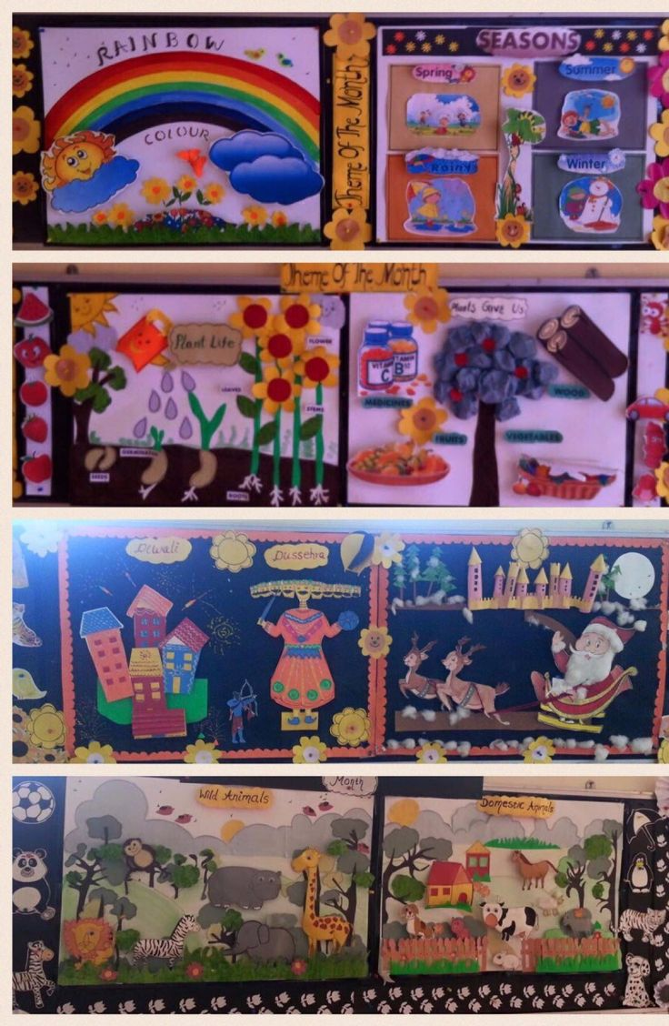 Display Boards for Pre Primary School | Sarika's Craft Collection