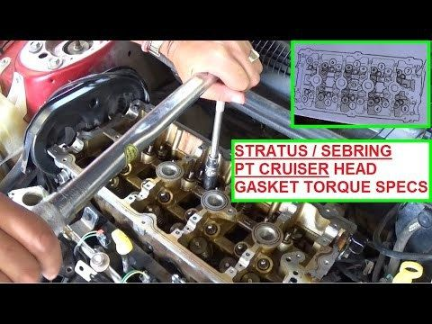 Dodge Stratus Specs in Old Saybrook 6475 CT.  Dodge Stratus Specs Dodge Stratus / Chrysler Sebring / Pt Cruiser 2.4 Head gasket Install and torque specs ► Our Website for Tools, Parts and more Videos:  We took this video to show you how to properly install the head gasket on a Dodge Stratus 2.4 ...