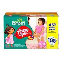Pampers - Easy Ups, Girls, Size 4 (16-34 lbs.), 108 ct.