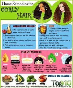 Top ten home remedies for curly hair.