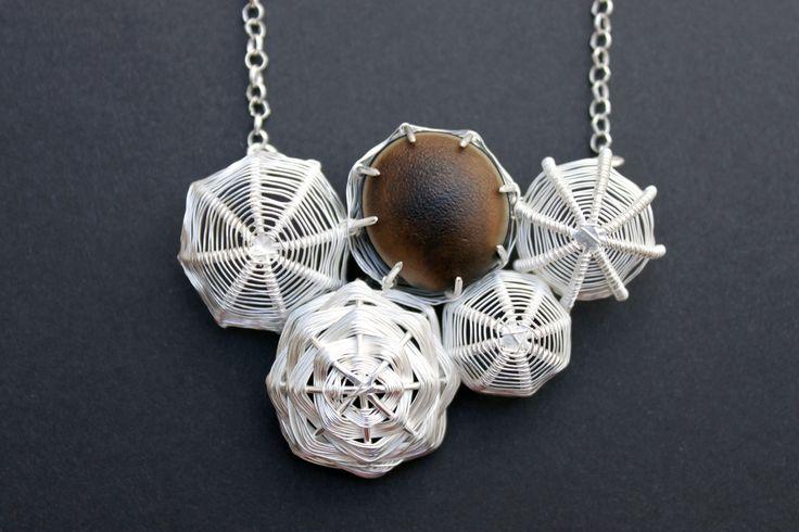 Collar amuleto de nombre Buey Hilo de plata 999 tejida 2014