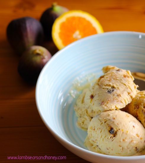 Wickedly rich and delightfully fragrant - Orange Blossom Fig and White Chocolate Ice Cream!